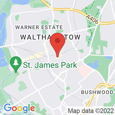 Map showing Eat17 Walthamstow