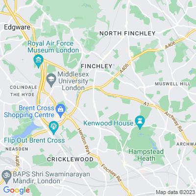 Willifield Green, Hampstead Garden Suburb Location