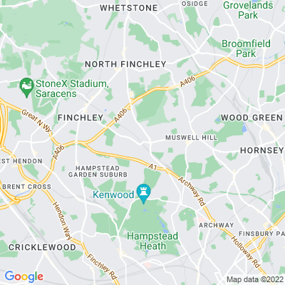 East Finchley Cemetery Location