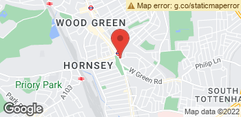 Map of Elisana Florist at 10 Turnpike Parade, London, Inner London N15 3EA