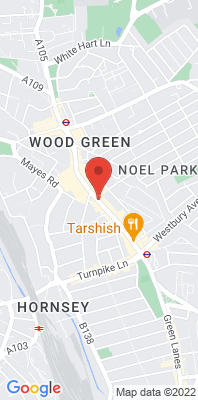 Map showing the location of the Haringey Wood Green monitoring site