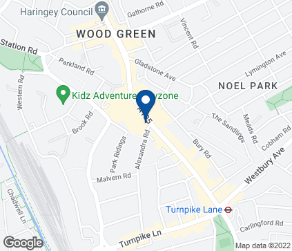 Map of 137-139 High Road in Wood Green