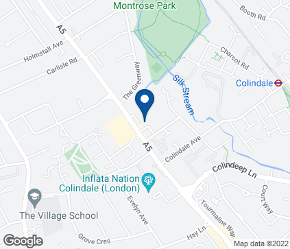 Map of The Hyde in Colindale