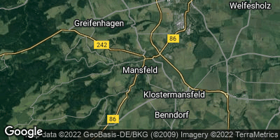 Google Map of Mansfeld