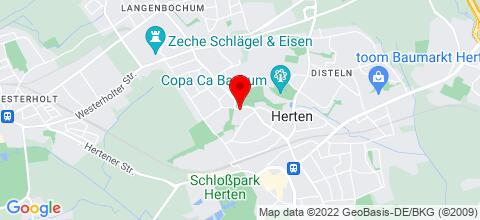 Google Map für HertenFlats - Rooms & Apartments - Kreis Recklinghausen