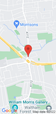 Map showing the location of the Waltham Forest Crooked Billet monitoring site