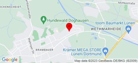 Google Map für Monteur- und Gästezimmer in Lünen bei Dortmund