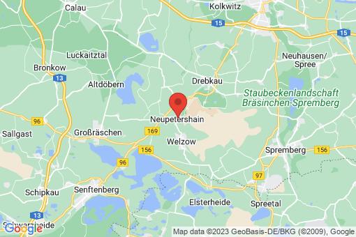 Karte Neupetershain