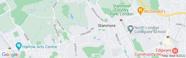 Map Of Stanmore