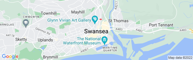 Map Of Swansea