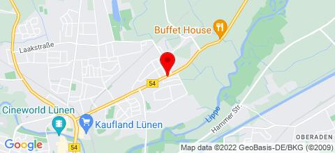 Google Map für  Preiswerte TOP-Whg. in Lünen