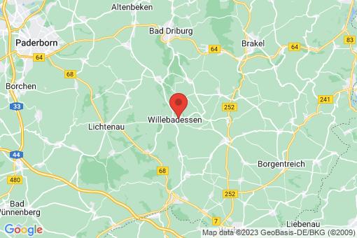 Karte Willebadessen