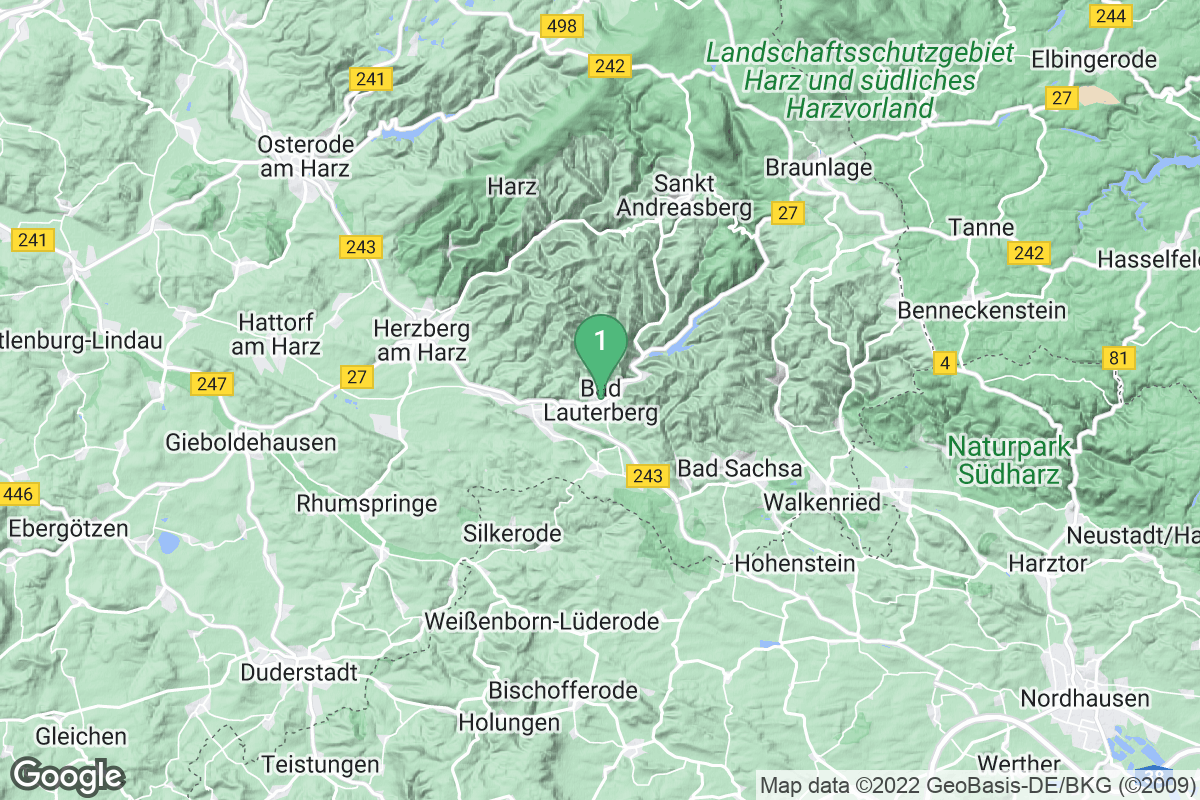 Google Map of Bad Lauterberg im Harz