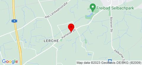 Google Map für Gästehaus am Schacht