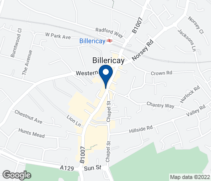 Map of 55 High Street in Billericay