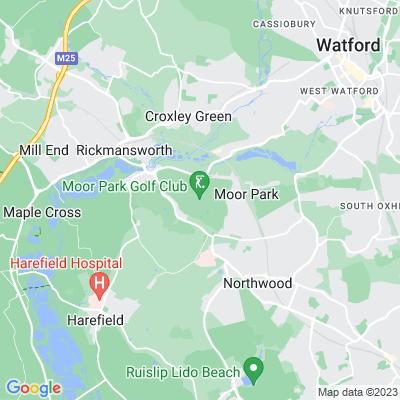 Moor Park, Rickmansworth Location