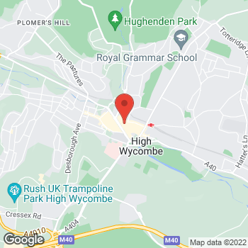 Map of Wimpy High Wycombe at 19-21 White Hart Street, High Wycombe, Buckinghamshire HP11 2HL