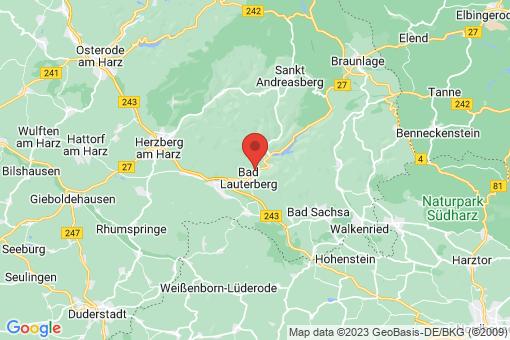 Karte Bad Lauterberg im Harz