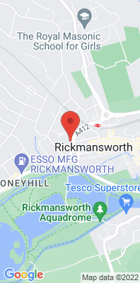 Map showing the location of the Three Rivers Rickmansworth [Closed] monitoring site