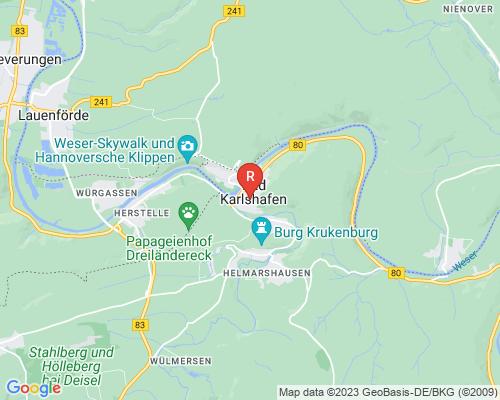 Google Karte von Rohrreinigung Bad Karlshafen