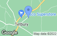 Map of Tetbury, Gloucestershire