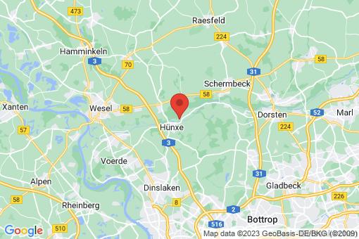 Karte Hünxe