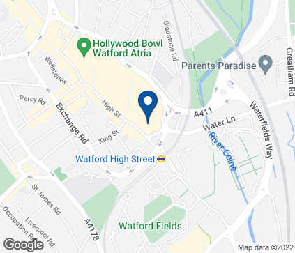 Map of INTU Harlequin Centre in Watford