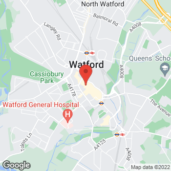 Map of wilko Watford (Relo) at 29-35 High Street, Watford,  WD17 2DJ