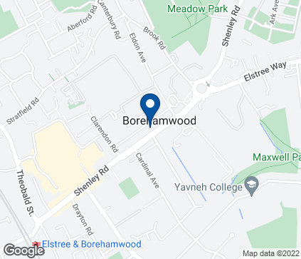 Map of 181 Shenley Road in Boreham Wood