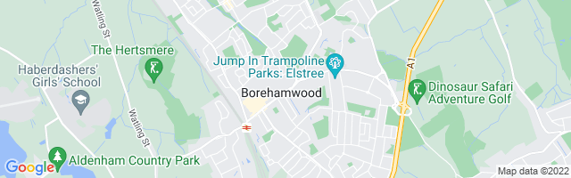Map Of Borehamwood