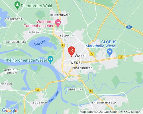 Google Karte von Rohrreinigung Wesel