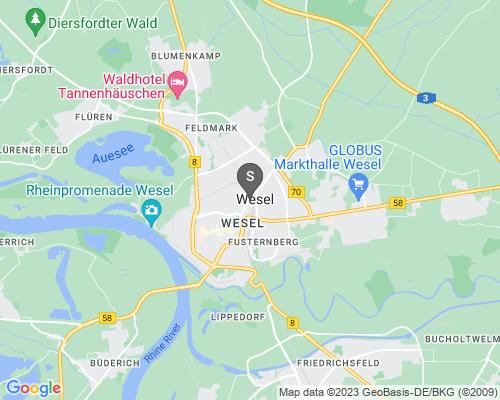 Google Karte von Schlüsseldienst Wesel