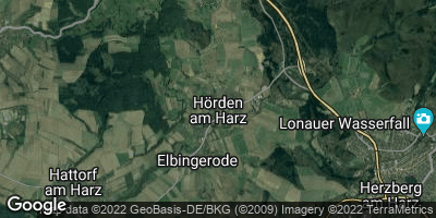 Google Map of Hörden am Harz