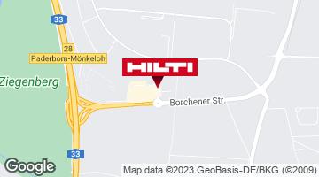 Wegbeschreibung zu Hilti Store Paderborn
