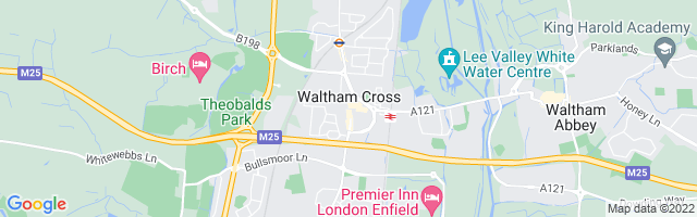Map Of Waltham Cross