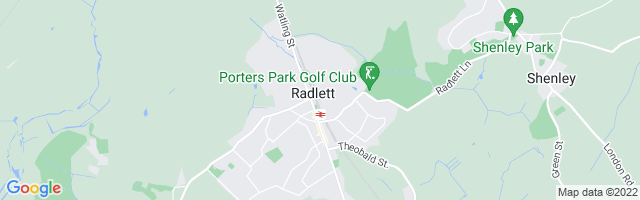 Map Of Radlett