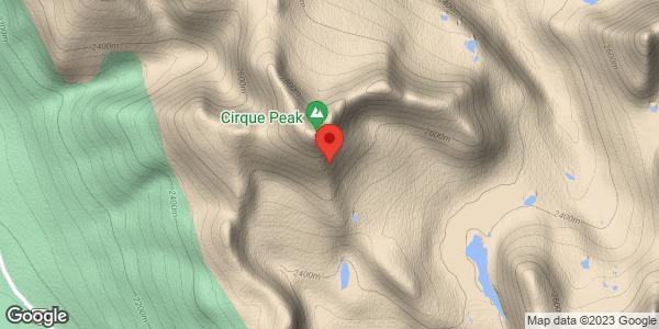Cirque Peak Natural avalanches