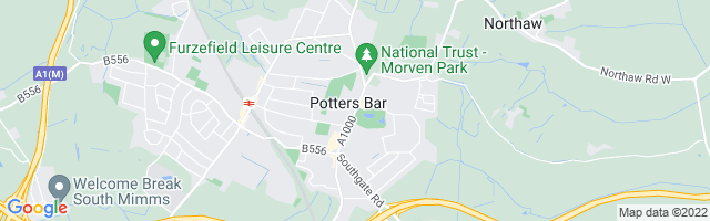 Map Of Potters Bar