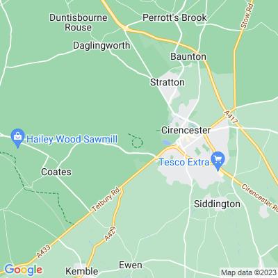 Cirencester Park Location