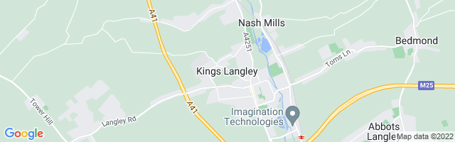 Map Of Kings Langley
