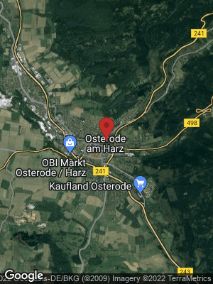 Google Map of Osterode am Harz