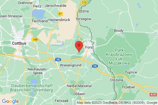 Karte Forst (Lausitz)