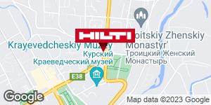 Get directions to Региональный представитель Hilti в г. Курск
