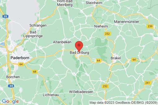 Karte Bad Driburg