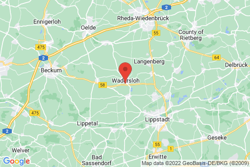 Karte Wadersloh