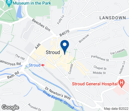 Map of 57 High Street in Stroud