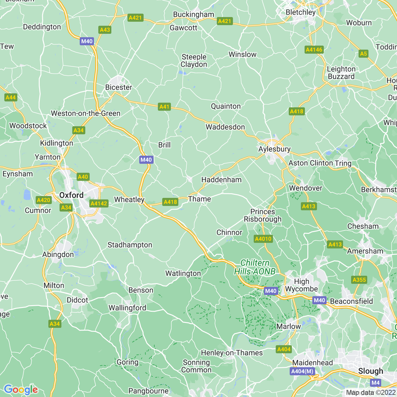 Location of The Space, Thame, Oxfordshire