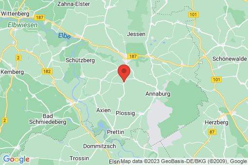 Karte Jessen (Elster) Gerbisbach