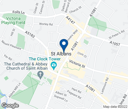 Map of 9  St  Peter's Street in St Albans