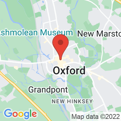 Map showing Society Café Oxford
